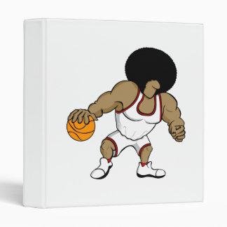 Afro basktball player binder