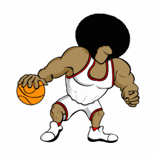 Afro basktball player acrylic cut outs