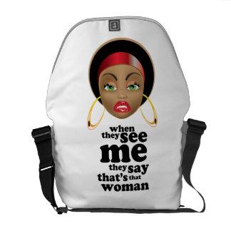 Afro Beauty Messenger Bag
