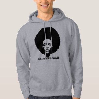 AFRO BIG MAN PIC, BROTHER MAN HOODED SWEATSHIRT