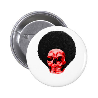 Afro Black Red Skull Example The MUSEUM Zazzle Gif Button
