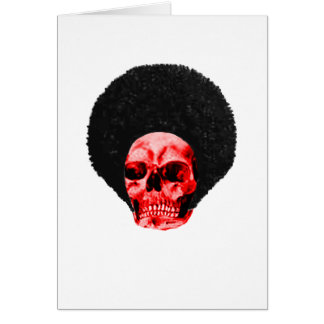 Afro Black Red Skull Example The MUSEUM Zazzle Gif Card