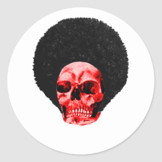 Afro Black Red Skull Example The MUSEUM Zazzle Gif Classic Round Sticker