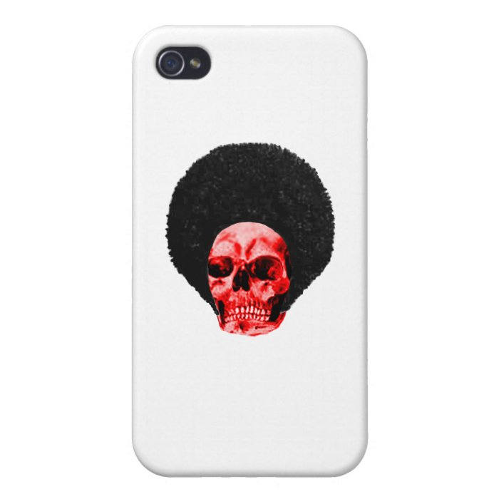 Afro Black Red Skull Example The MUSEUM Zazzle Gif iPhone 4 Cover