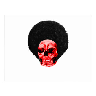 Afro Black Red Skull Example The MUSEUM Zazzle Gif Postcard