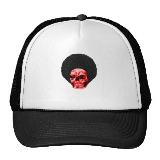 Afro Black Red Skull Example The MUSEUM Zazzle Gif Trucker Hat