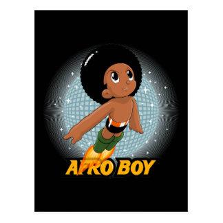 Afro Boy Postcard