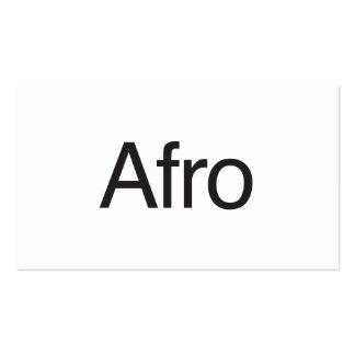 Afro Business Card Template