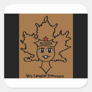 Afro Canadian Princesses sticker! Square Sticker