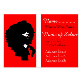 Afro chic natural hair illustration large business cards (Pack of 100)