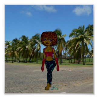 Afro chick from Martinica Póster