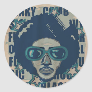 AFRO CLASSIC ROUND STICKER