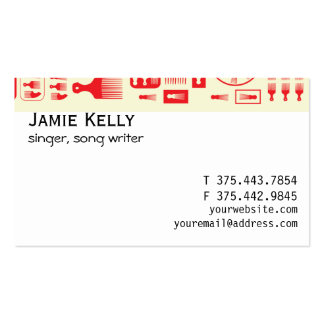 afro Comb  NEW RED.ai Business Card Templates