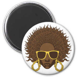 Afro Cool 2 Inch Round Magnet