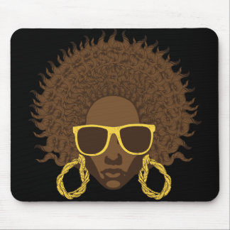 Afro Cool Mouse Pad