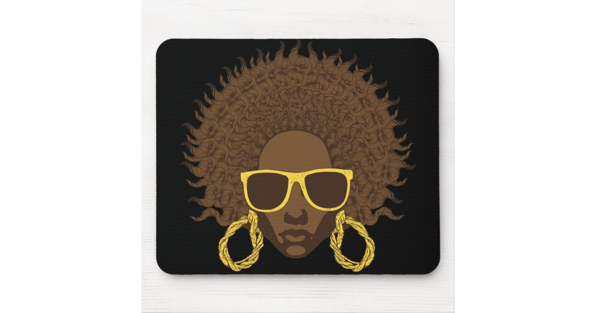 afro cool mouse pad zazzle. Black Bedroom Furniture Sets. Home Design Ideas
