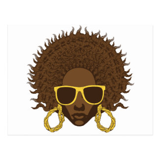 Afro Cool Postcard