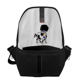 Afro Cow Courier Bag