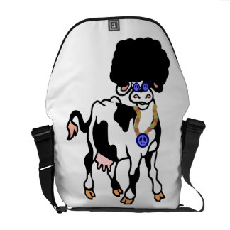 Afro Cow Messenger Bag