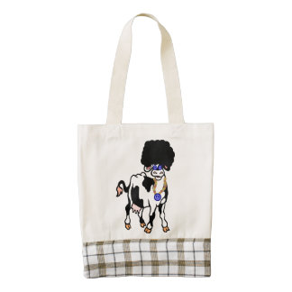 Afro Cow Zazzle HEART Tote Bag