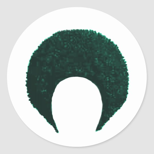 Afro Cyan The MUSEUM Zazzle Gifts Classic Round Sticker
