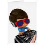 Afro de DJ del Peekaboo Tarjeton