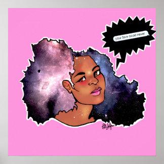 Afro de la galaxia póster