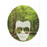 Afro del bosque postales