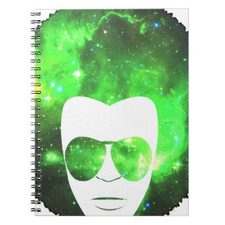 Afro del espacio libro de apuntes con espiral