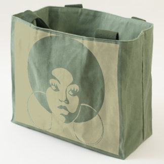 Afro Diva Canvas Utility Tote