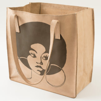 Afro Diva Leather Tote