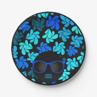Afro Diva Teal Turquoise Party Supplies Paper Plate