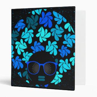 Afro Diva Turquoise Teal Binder