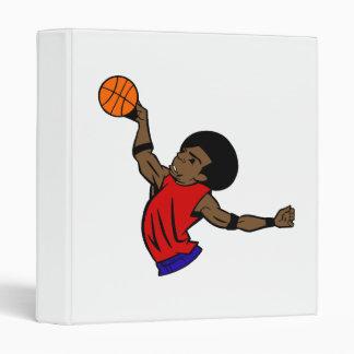Afro dude basketball binder