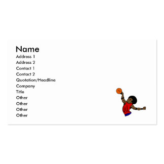 Afro dude basketball business card templates