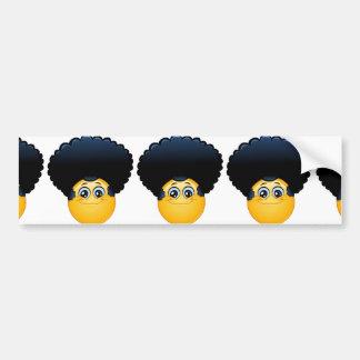 afro emoji bumper sticker