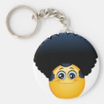 afro emoji keychain