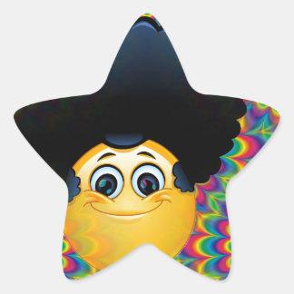 afro emojis star sticker