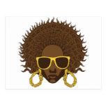 Afro fresco tarjeta postal