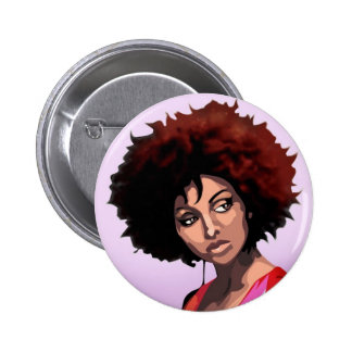 Afro girl 2 inch round button