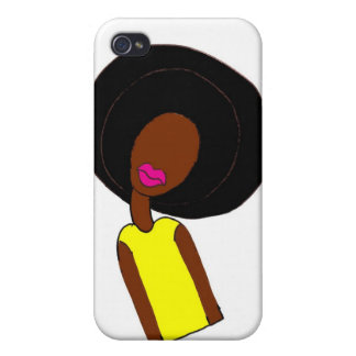Afro Girl iPhone 4/4S Cases