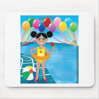 Afro Girl with Popsicle Mouse Pad