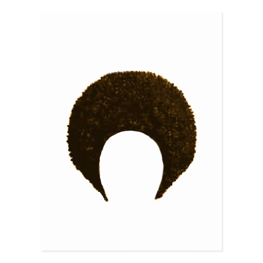 Afro Gold The MUSEUM Zazzle Gifts Postcard