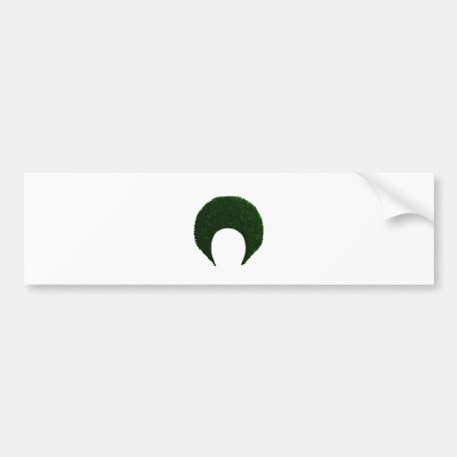 Afro Green The MUSEUM Zazzle Gifts Bumper Stickers