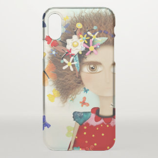 AFRO HAIR DOLL RUPYDETEQUILA HUGE EYES FLORAL iPhone X CASE
