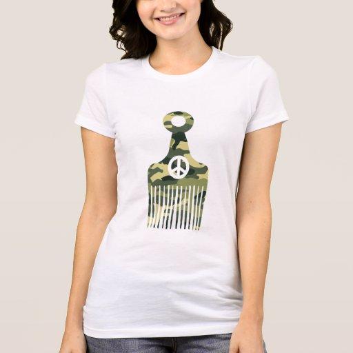 Afro Hair Peace Camo Shirts