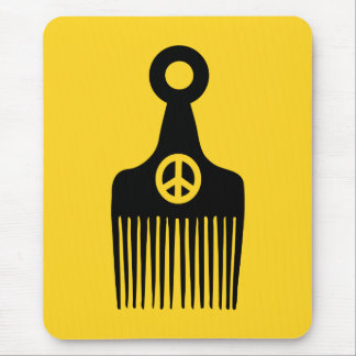 Afro Hair Peace Mouse Pad
