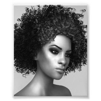 Afro Hair Photo Print