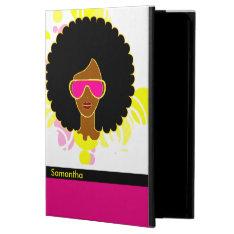 Afro Hair Pink Sunglasses Ipad Air Case at Zazzle