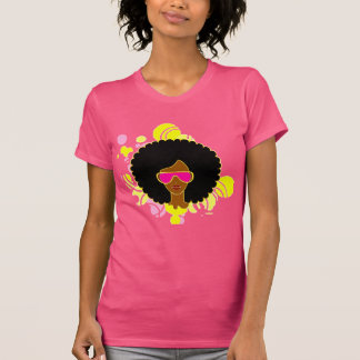 Afro Hair Pink Sunglasses T-Shirt